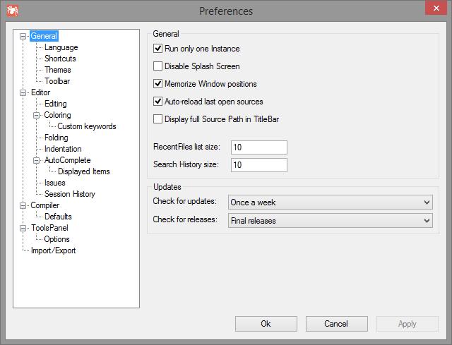 Customizing the IDE